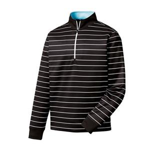 Men's Double Layer Jersey Stripe 1/2 Zip Pullover
