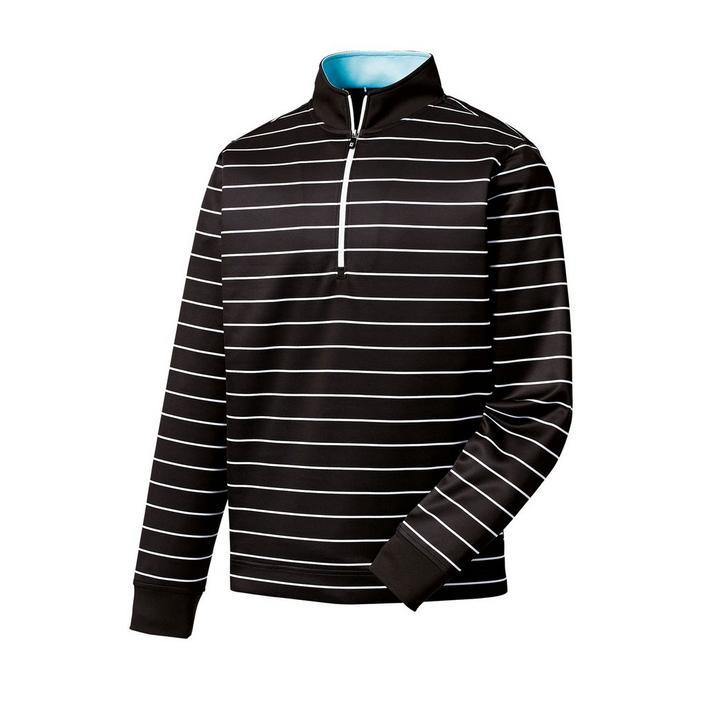 Men's Double Layer Jersey Stripe 1/2 Zip Pullover