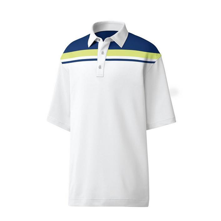 Men's Lisle Colourblock Chest Stripe Short Sleeve Shirt