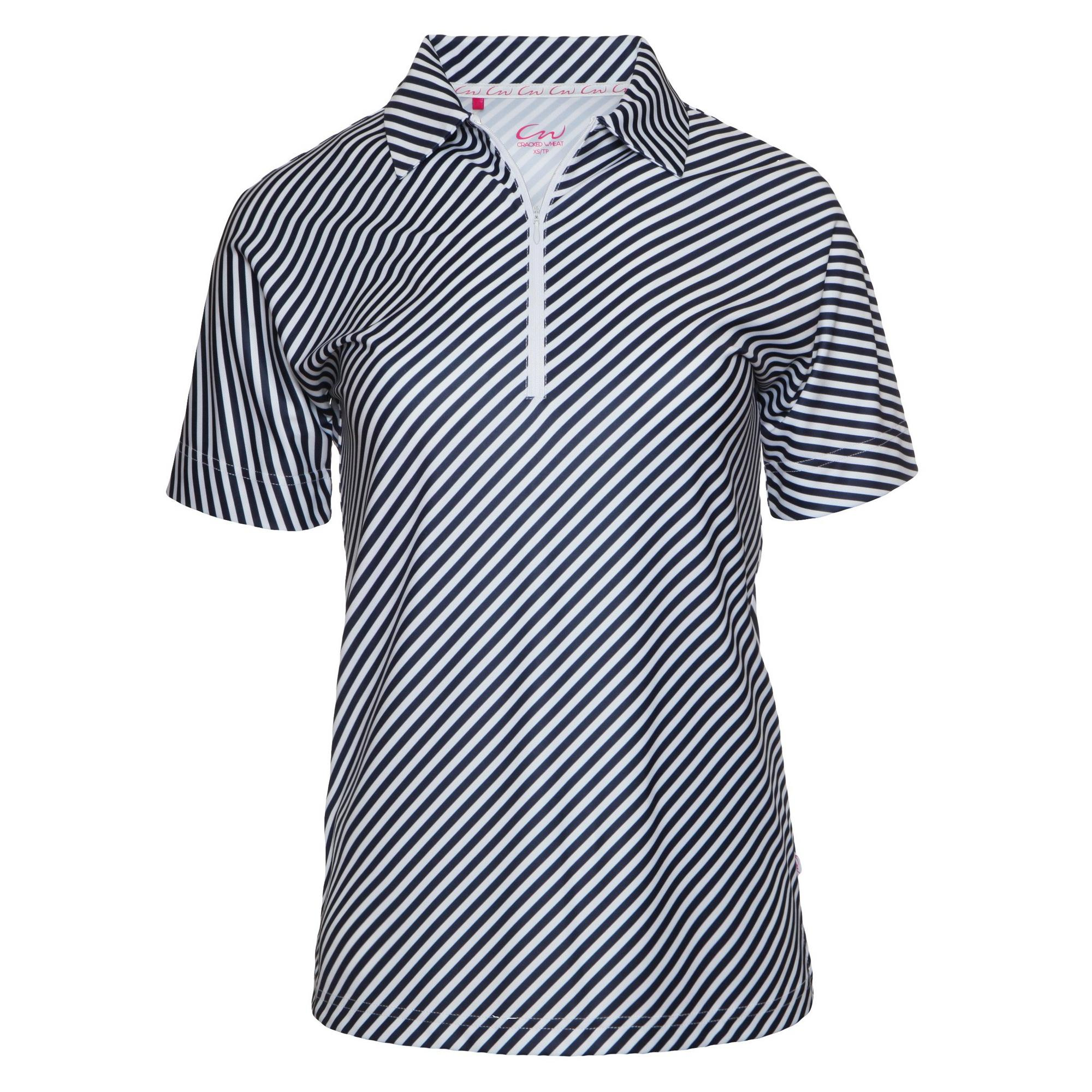Women's Diagonal Stripe Short Sleeve Polo