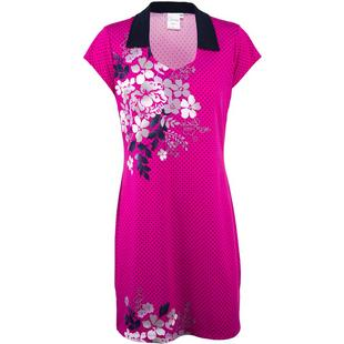 Women's Open Neck Floral Placement Print Short Sleeve Dress
