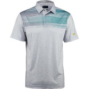 Men's Scattered Heather Chest Stripe Print Short Sleeve Shirt
