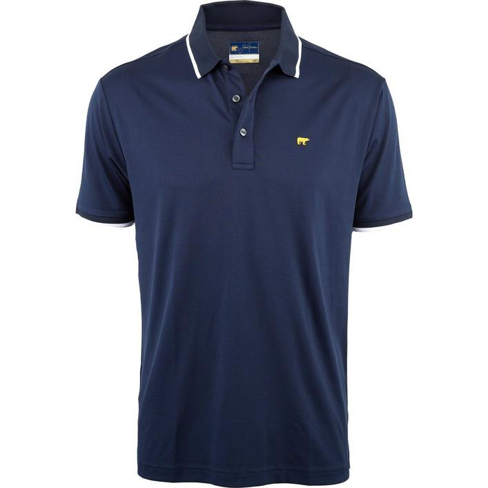 Men's Rib and Cuff Tipping Solid Short Sleeve Polo