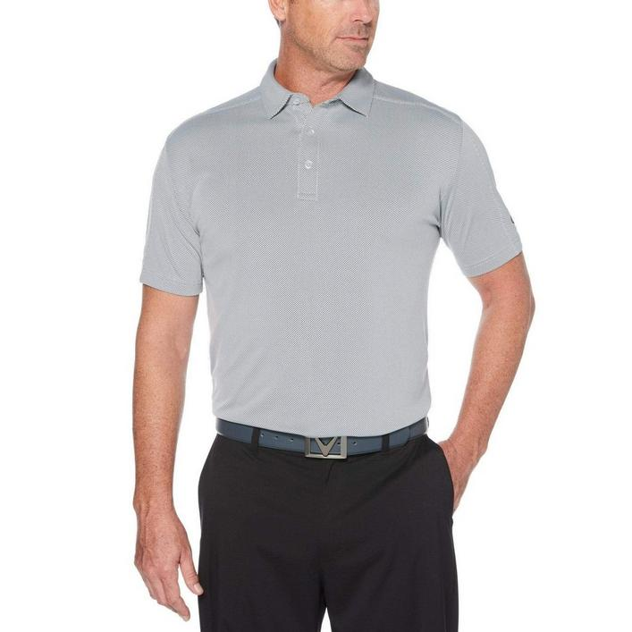 Men's Essential Refined Jacquard Short Sleeve Shirt