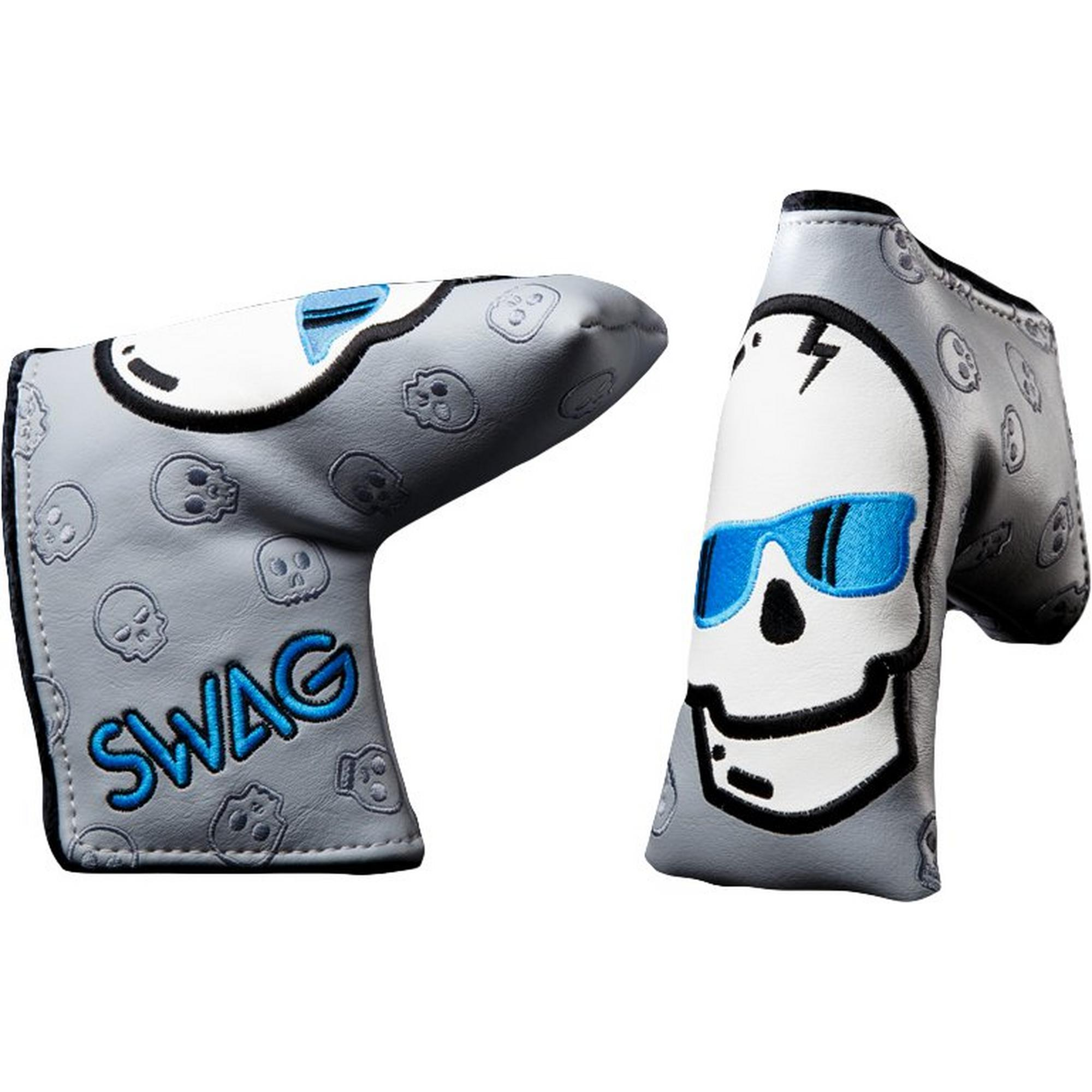 Blue Skull Putter Headcover