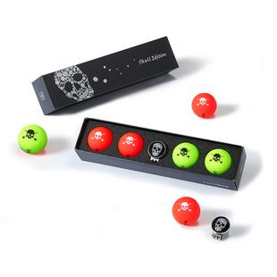 Vivid 4 Pack Golf Balls - Skull 2.0 Editions