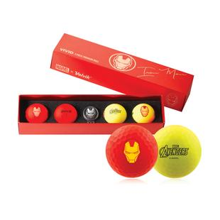 Vivid 4 Pack Gift Set Golf Balls - Iron Man Edition