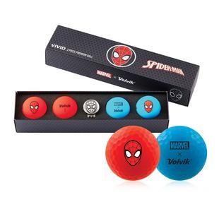 Vivid 4 Pack Golf Balls - Marvel Spiderman Edition