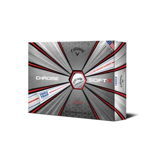 Chrome Soft X Triple Track Golf Balls - White