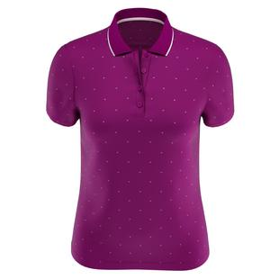Women's All Over Chevron Print Polka Dot Short Sleeve Polo