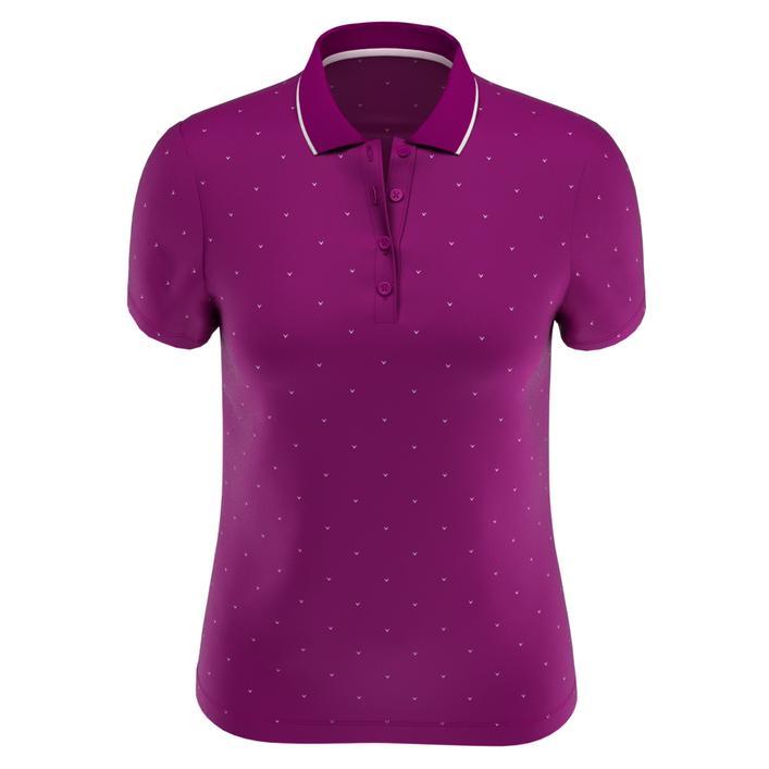 Women's All Over Chevron Print Polka Dot Short Sleeve Polo