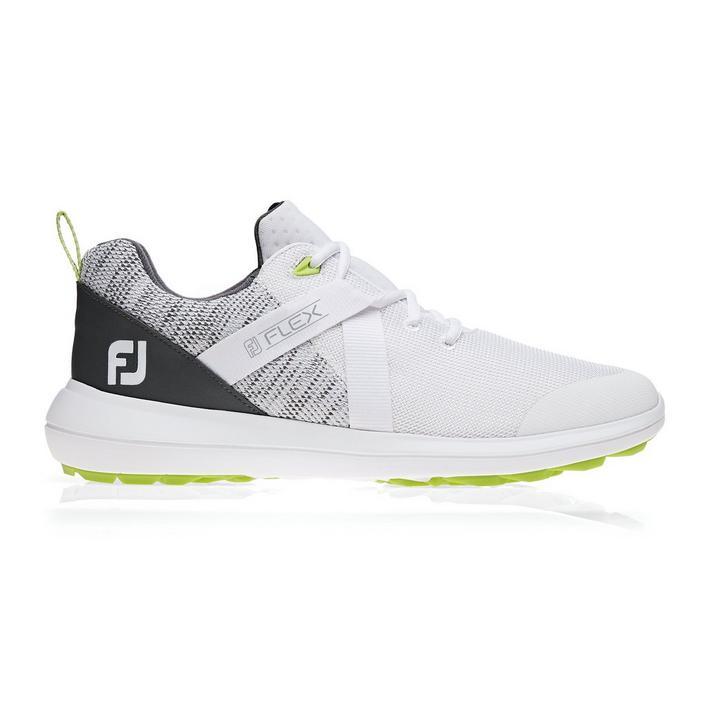 Men's Flex Spikeless Golf Shoe - White/Grey