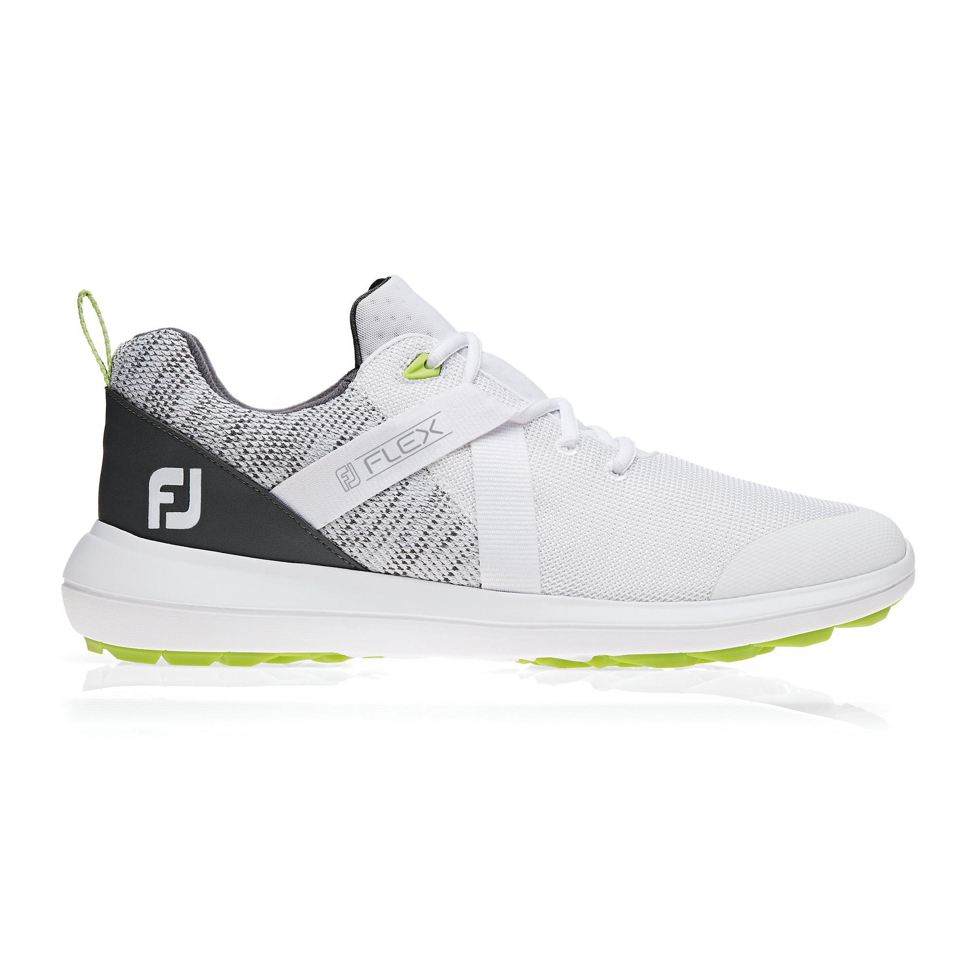 Men's Flex Spikeless Golf Shoe - White/Grey
