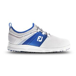 Men's Superlites Slip On Spikeless Golf Shoe - White/Blue