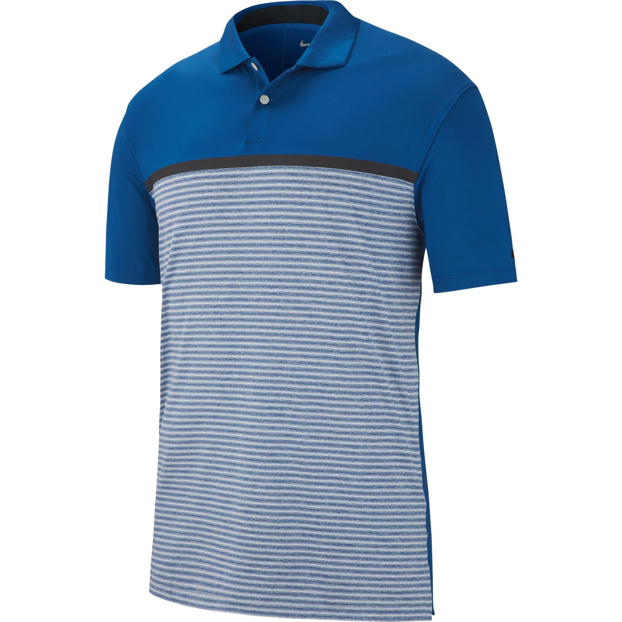 7dc888ec3 Men's TW Dri-FIT Vapor Striped Short Sleeve Shirt | NIKE | Golf Town Limited