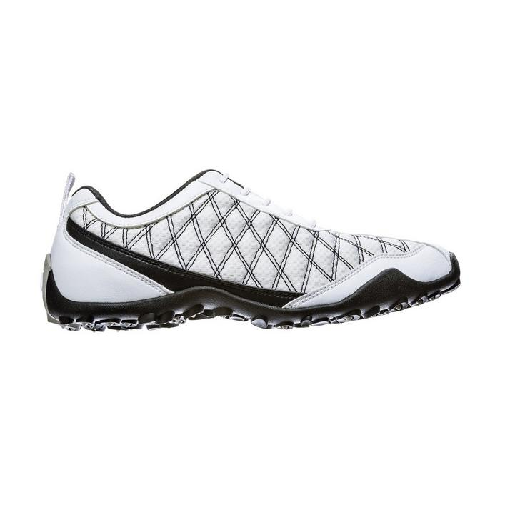 Women's Superlites Spikeless Golf Shoe - White/Black