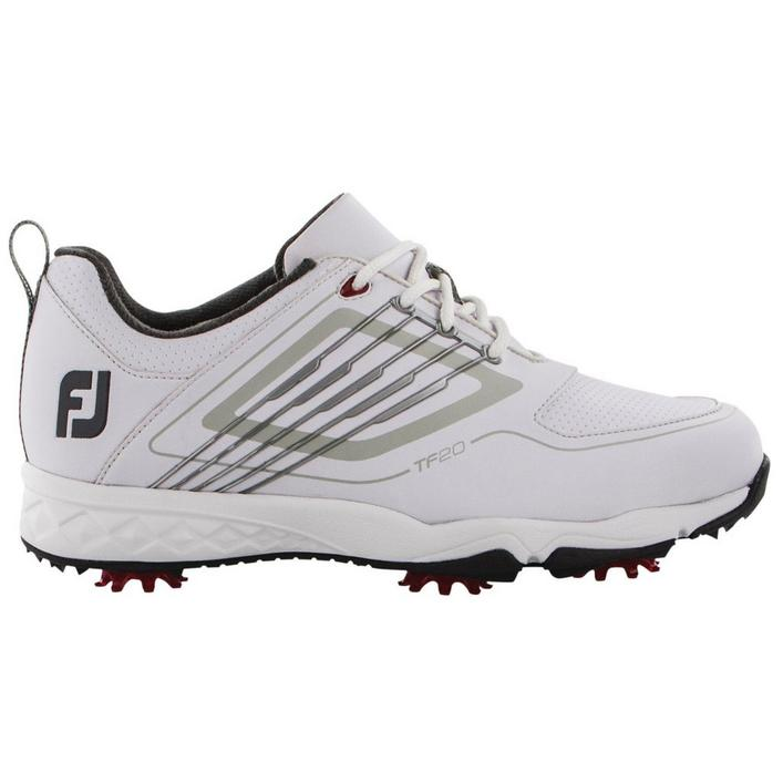 Junior Fury Spiked Golf Shoe - White/Black
