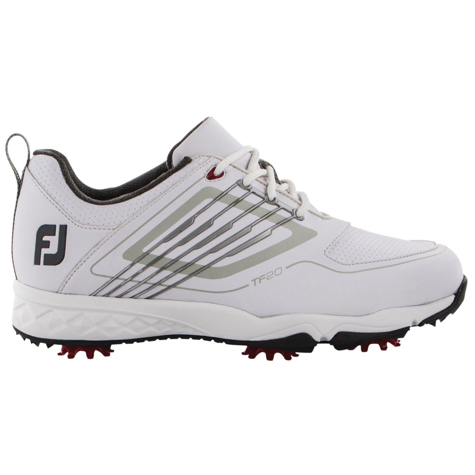 Chaussures Fury à crampons pour juniors (Blanc/Noir)