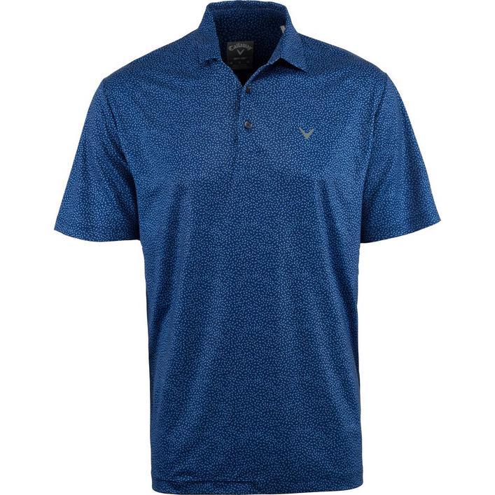 Men's Big & Tall Mini Chev Print Short Sleeve Shirt
