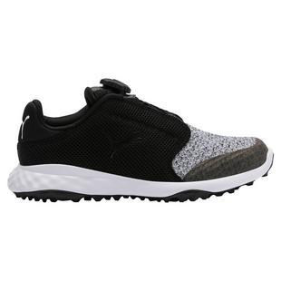 Junior Grip Sport Disc Spikeless Golf Shoe - Black/Grey