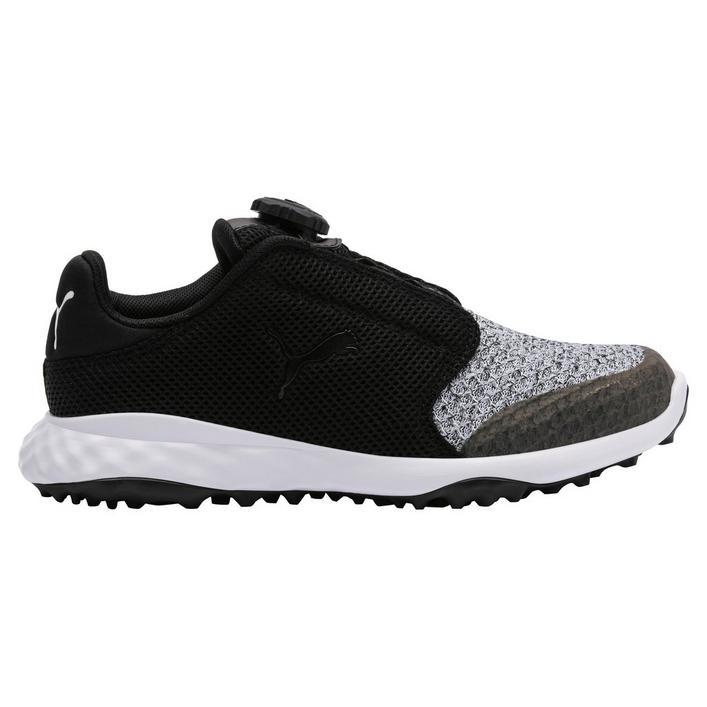 Junior Grip Sport Disc Spikeless Golf Shoe - Black/Grey
