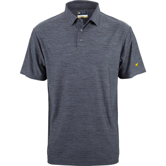 Men's Space Dye Stripe Short Sleeve Shirt