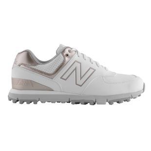 Women's 574 Spikeless Golf Shoe - White/Pink