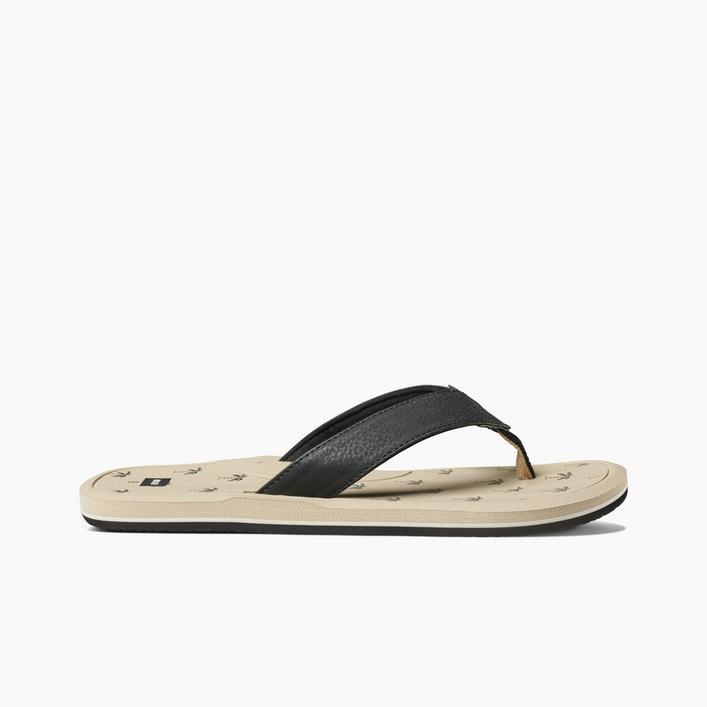 Men's Manchado Day Print Flip-Flop Sandal - Khaki/Black