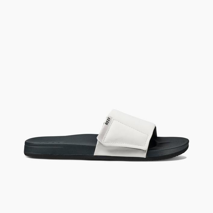 Men's Cushion Bounce Slide Sandal - White/Grey