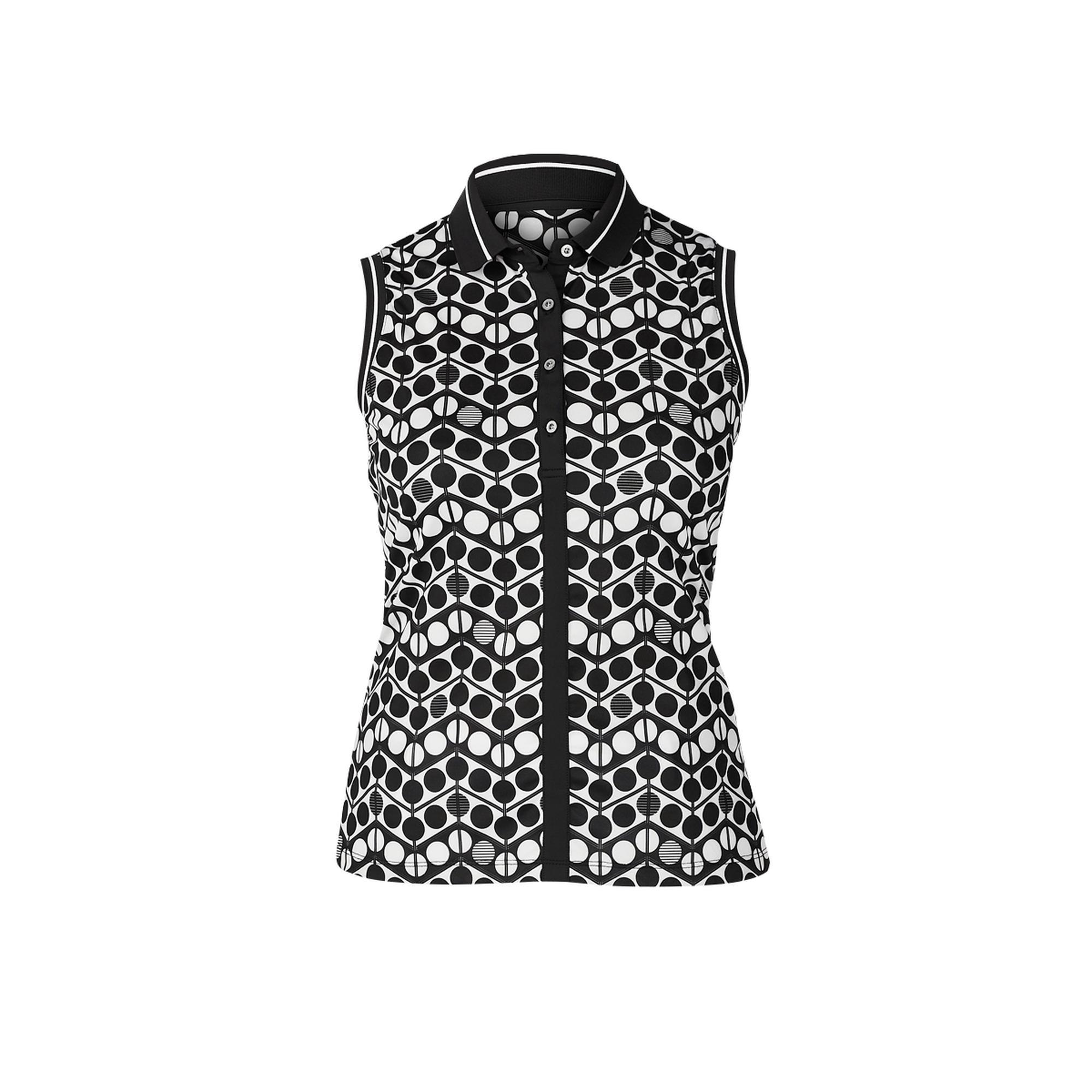 Women's Winka Printed Sleeveless Polo