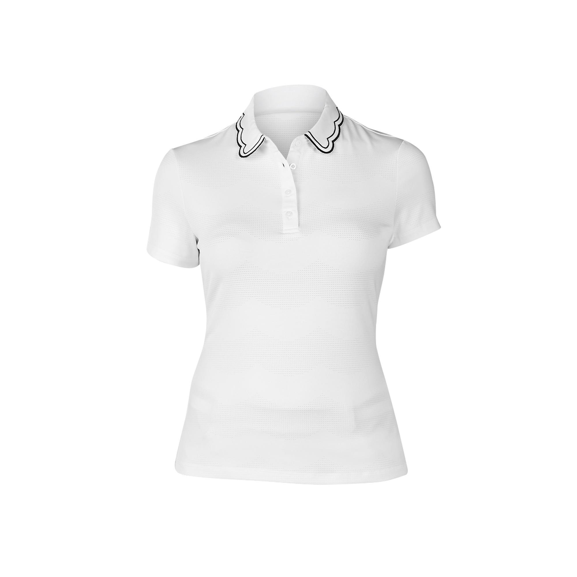 Women's Wendy Scalloped Collar Short Sleeve Polo
