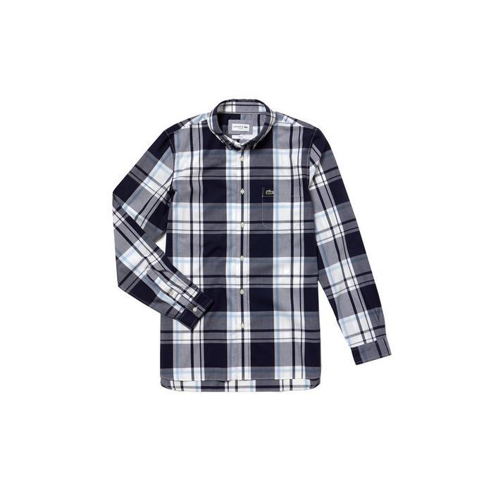 Men's Slim Fit Cotton Polin Long Sleeve Shirt