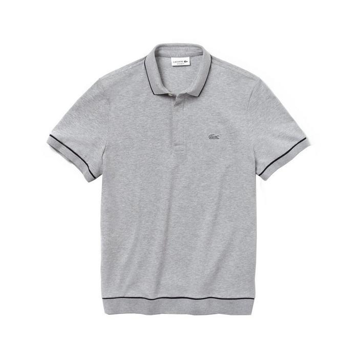 Men's Regular Fit Mini Pique Short Sleeve Shirt