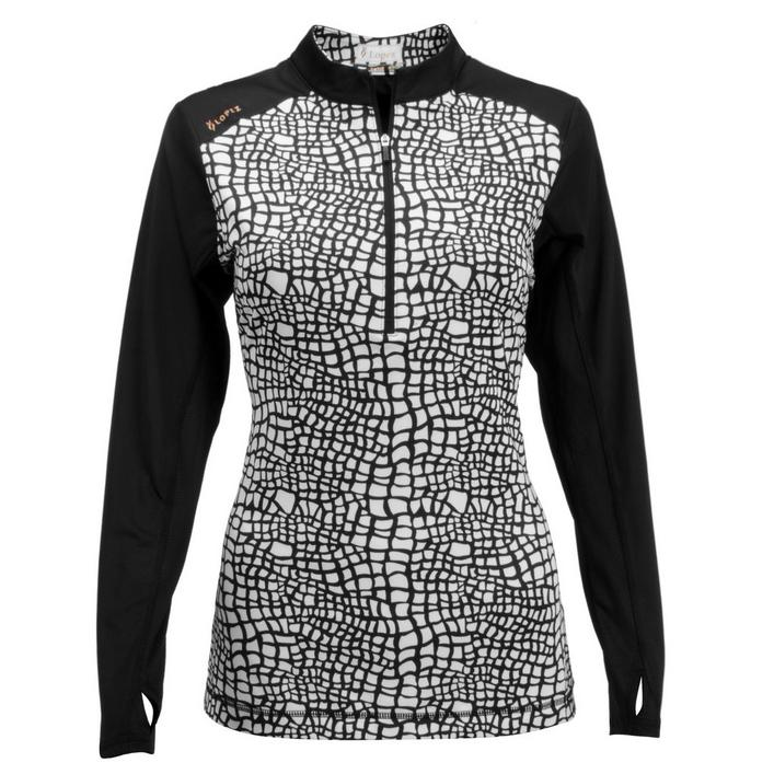 Women's Joy Pullover Printed Long Sleeve Top