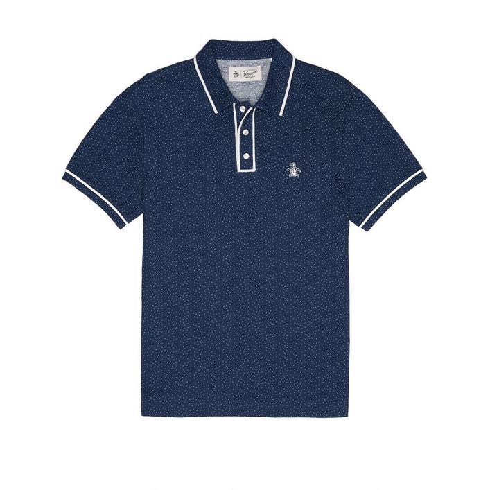 Men's Polka Dot Short Sleeve Shirt