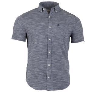 Chemise à trois couleurs en tricot à manches courtes pour hommes