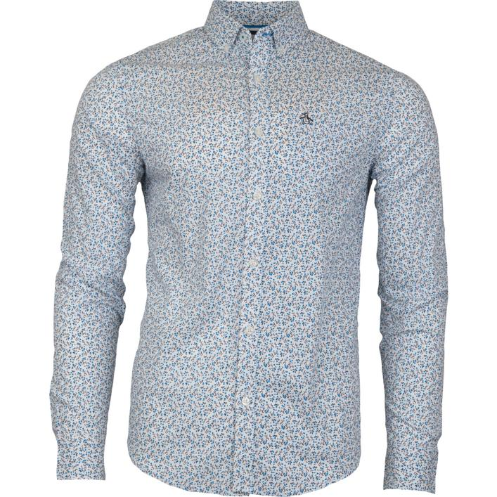 Men's Ditsy Floral Long Sleeve Button-Down Shirt