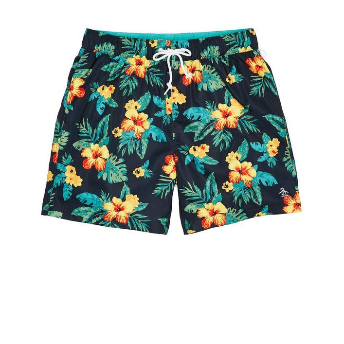 Men's Floral Elastic Stretch Short