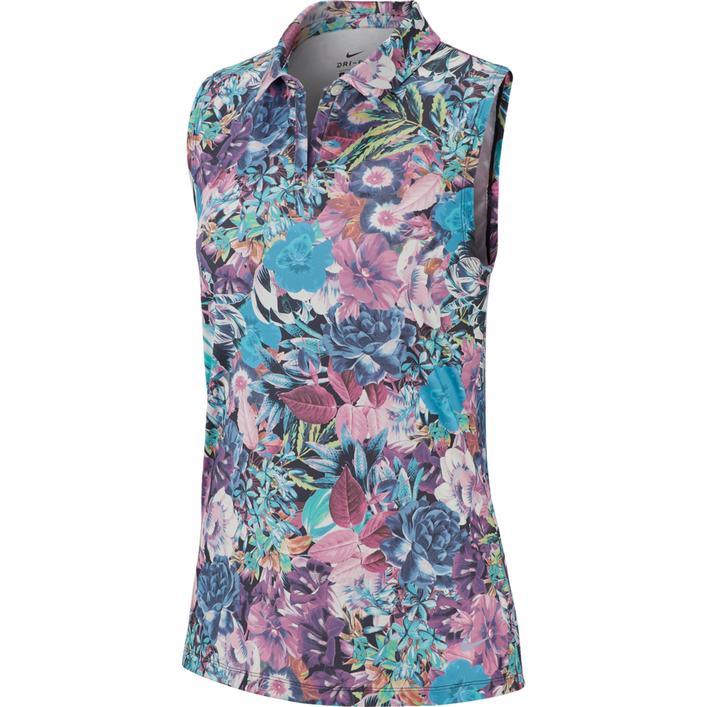 Women's Floral Print Dry Sleeveless Polo