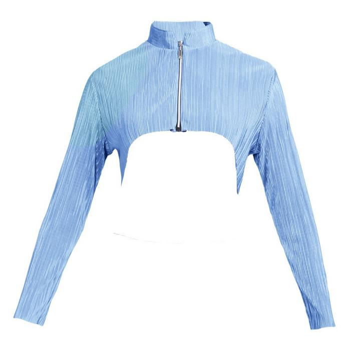 Women's Crunch Cropped Shoulder Long Sleeve Jacket
