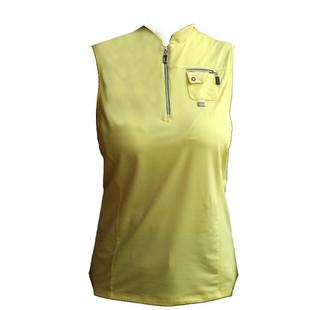 Women's Solid Mock Neck Sleeveless Top