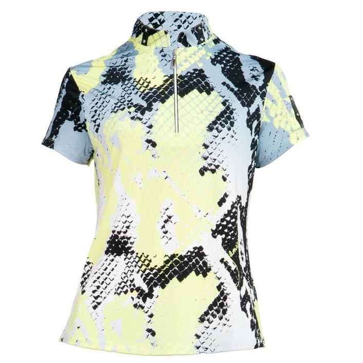 Women's Boa Print Short Sleeve Top