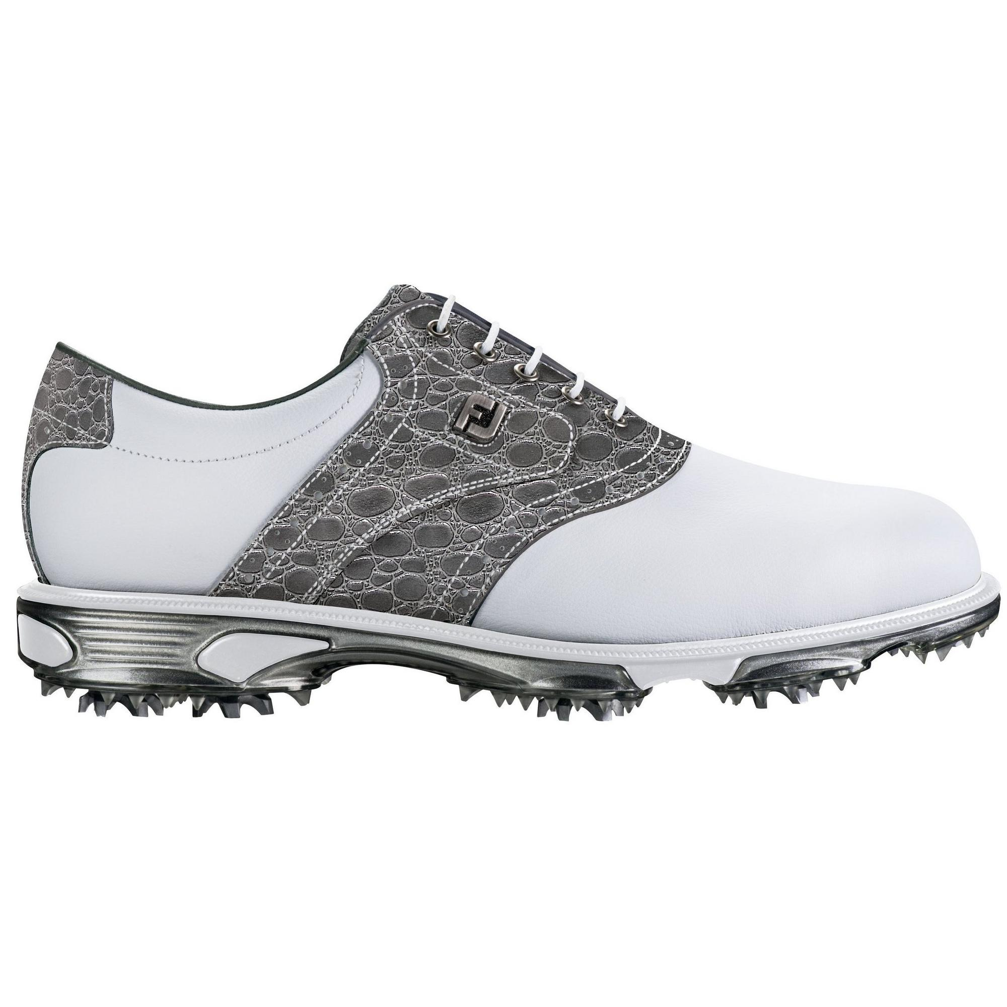 Men's DryJoy Tour 30th Anniversary Limited Edition Spiked Golf Shoe - White/Grey
