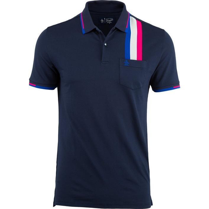 Men's Racing Stripe Short Sleeve Shirt