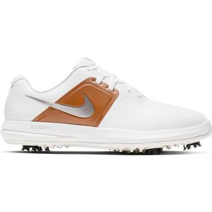 Men's Air Zoom Victory Spiked Golf Shoe - White/Brown