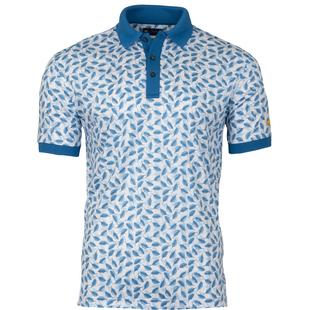 Men's Allover Leaf Print Short Sleeve Shirt