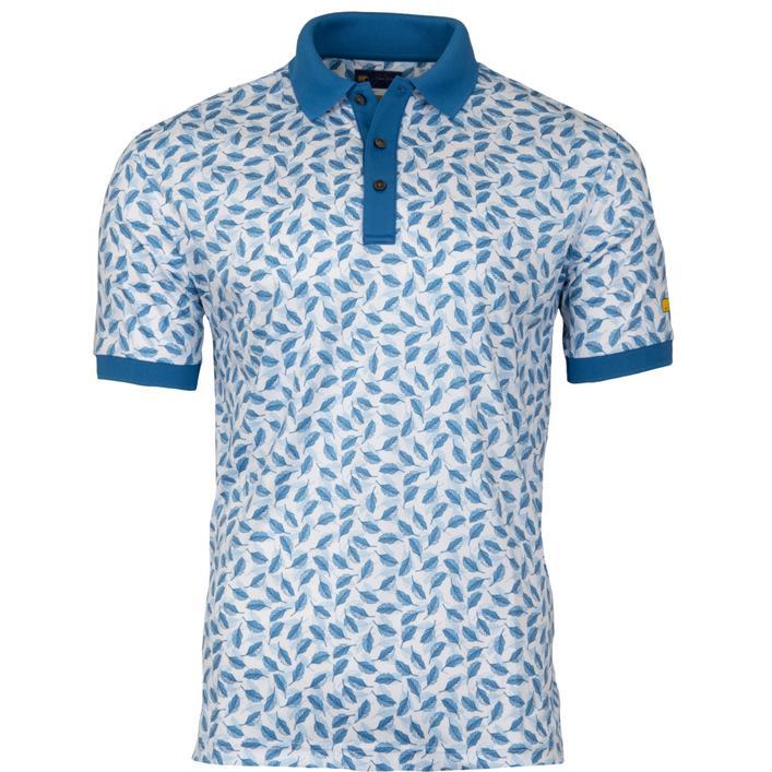 Men's Allover Leaf Print Short Sleeve Shirt