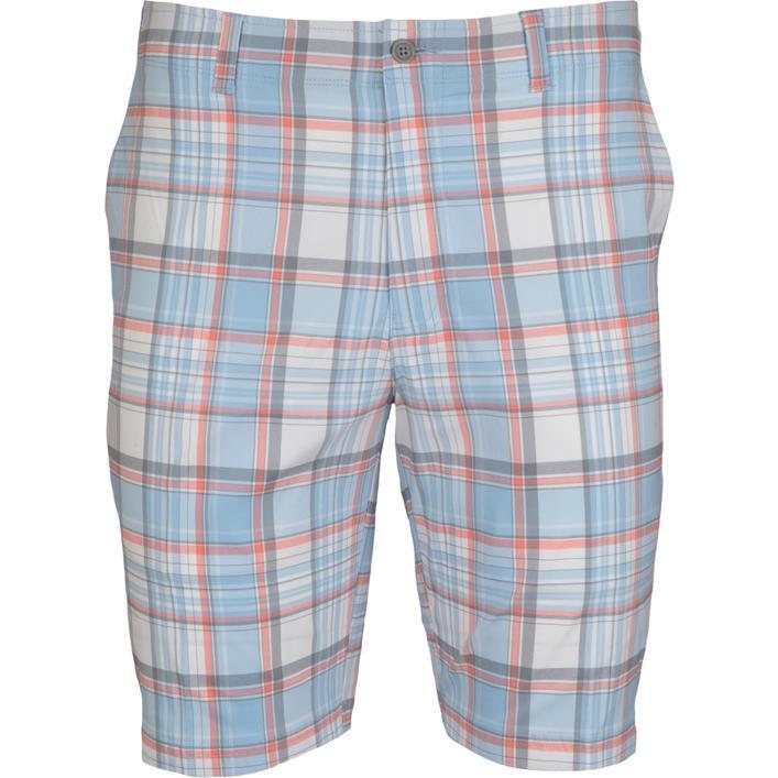 Men's Flat Front Yarn Dyed Madras Short