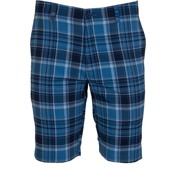 Pantalon court Yarn Dyed à devant plat pour hommes
