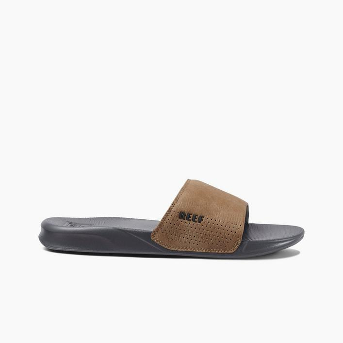 Men's One Slide Sandal - Brown/Black